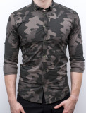 Camasa Army - camasa slim fit camasa barbat camasa cambrata, S, XL, Maneca lunga, Din imagine