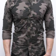 Camasa Army - camasa slim fit camasa barbat camasa cambrata, S, XL, Din imagine