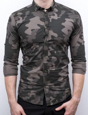 Camasa Army - camasa slim fit camasa barbat camasa cambrata foto