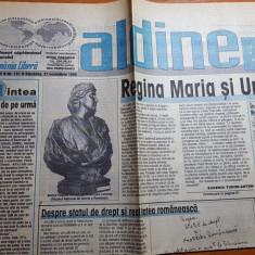 Ziarul albine 27 noiembrie 1999- ion gavrila ogoranu si regina maria si unirea