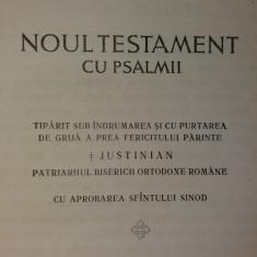 NOUL TESTAMENT CU PSALMII – JUSTINIAN PATRIARHUL - Biblia