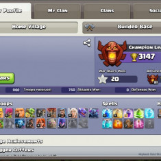 Clash of clans level 123 Town Hall 11 si & Clash Royale level 10 Arena 11