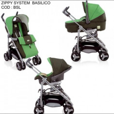 Carut Inglesina Zippy 3 in 1(plus alte accesorii) - Carucior copii 3 in 1, Verde