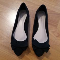 Vand pantofi eleganti dama - Pantof dama New Rock, Culoare: Negru, Marime: 38 2/3, Cu talpa joasa