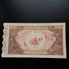 Bancnote romanesti specimen 10000lei 1945