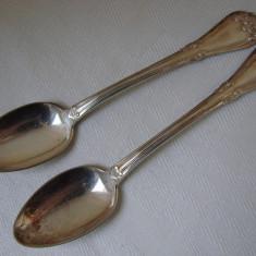 Frumoase doua lingurite din alama argintata (50), Tacamuri