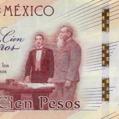 Bancnota Mexic 100 Pesos 2017 - PNew UNC ( Centenarul constitutiei ) - bancnota america