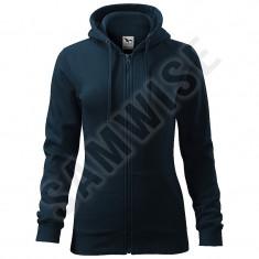 Hanorac de dama Trendy Zipper (Culoare: Albastru marin, Marime: XL, Pentru: Femei) - Hanorac dama