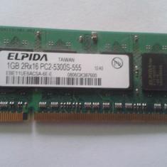 Vand Memorie Laptop Ram Elpida EBE11UE6ACSA-6E-E 1Gb DDR2 667Mhz Pret 25 Lei - Memorie RAM laptop