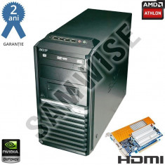 Calculator Acer Veriton M421G, AMD Athlon II X2 B28 3.4GHz, 4GB DDR2, 160GB, nVidia 8400GS 512MB (1GB HM) VGA, DVI, HDMI, DVD-RW - Sisteme desktop fara monitor