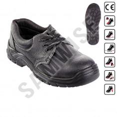 Pantof de protectie S1P Metalite, piele neagra (Categorie: Pantofi de protectie, Marime: 44) - Pantofi barbat