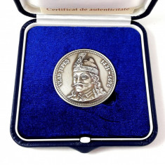 Medalie Romania Vlad Tepes Monetaria Statului Moneda Comemorativa Dracula - Medalii Romania