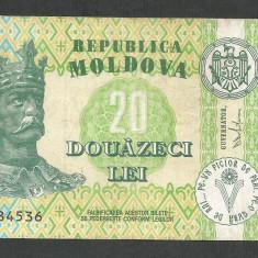 MOLDOVA 20 LEI 2013 [1] P-13j - bancnota europa