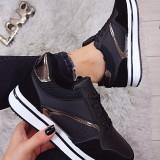 Adidasi Emma Black #1029A - Adidasi dama