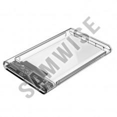 Rack extern Orico 2139U3-PRO-CR, 2.5 inch, SATA, USB 3.0, Transparent
