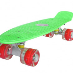 Penny board Mad Cruiser cu roti LED ABEC 7-verde