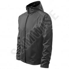Jacheta Softshell de Barbaţi Cool, Rezistenta la vant si ploaie (Culoare: Gri, Marime: XXL, Pentru: Barbati) - Imbracaminte Pescuit