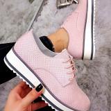 Pantofi i Anna Pink #1087A - Adidasi dama