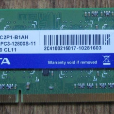 Memorie RAM laptop A-data 2Gb PC3-12800 (DDR3-1600Mhz) Perfect functionala,