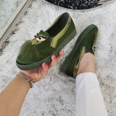 Espadrile Fun Army Green #697A - Adidasi dama