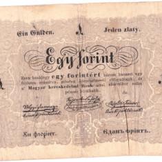 "Ungaria 1 FORINT ""UN FLORINT"" 1848-1849 in romana cu litere cirilice,RARA!!!"