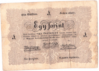 "Ungaria 1 FORINT ""UN FLORINT"" 1848-1849 in romana cu litere cirilice,RARA!!! foto"