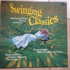 Swinging classics chor orchester harry pleva 22 hit disc vinyl lp Muzica Clasica Intercord, VINIL