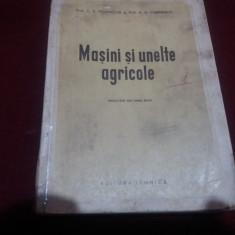 C A POLEVITCHI - MASINI SI UNELTE AGRICOLE 1952