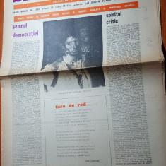 """Ziarul saptamana 15 iulie 1977-art. """"semnul democratiei"""" de corneliu vadim tudor"""