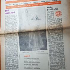 Ziarul saptamana 3 august 1979-art. totul pentru tara de corneliu vadim tudor
