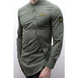 Camasa asimetrica barbat - camasa grena camasa barbat camasa slim camasa army