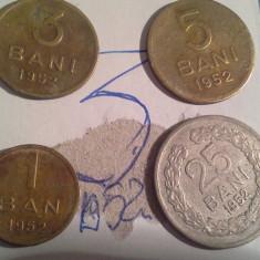 1, 3, 5, 25 BANI 1952/3 - Moneda Romania