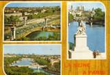 Franta - CP necirc. - Sena  in Paris -Podul Alexandru III,Notre-Dame,vedere gen.