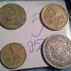 1, 3, 5, 25 BANI 1952/5 - Moneda Romania