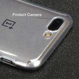 Husa silicon 0.3mm cu protectie la camera pentru OnePlus 5 / OnePlus 5T, Alt model telefon ZTE, Transparent