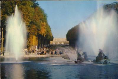 "Franta - CP necirc.- Paris - Bazinul Apollo, covorul verde ""Les Grandes Eaux"" foto"