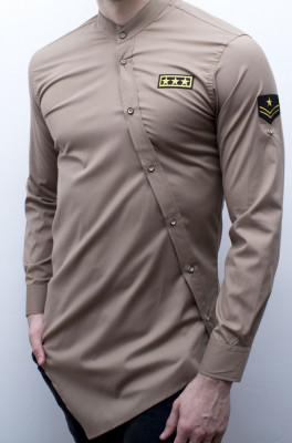 Camasa asimetrica Army - camasa army asimetrica camasa slim fit cod 168 foto