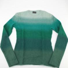 Pulover Versus Gianni Versace, 67% mohair, in degradeuri de verde - PRET SPECIAL - Pulover dama Versace, Marime: S/M, Casmir
