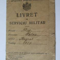Rar! Livret de serviciu militar 1926-Sergent in batalionul 10 vanatori de munte