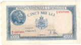 Bancnota 5000 lei  15 decembrie 1944  VF