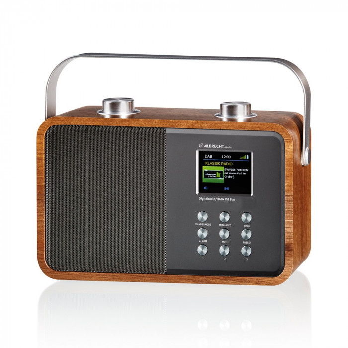 Resigilat : Radio digital DAB si FM Albrecht DR 850 cu Bluetooth si display color,