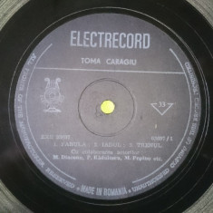Vinil Disc Toma Caragiu Momente Vesele Comedie Electrecord vinyl - Muzica soundtrack