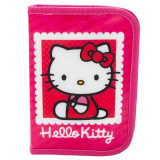 Penar echipat Hello Kitty, 1 compartiment cu fermoar, 16 piese, roz
