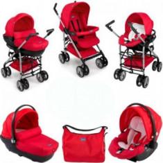 Carucior copii 3 in 1 - Chicco Trio Sprint - rosu - stare foarte buna