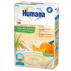 Cereale Humana fara lapte cu fulgi de orez si dovleac de la 6 luni 200 g - Cereale copii