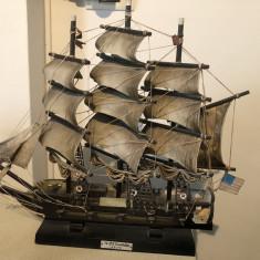 Corabie cu panze, macheta navala, veche, franceza, USS Constitution 1814