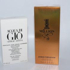 Set 2 parfumuri pentru barbati : Paco Rabanne Million + Armani Acqua - Set parfum