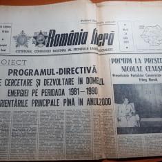 ziarul romania libera 24 iulie 1979-articol despre valea jiului