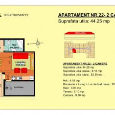 Vand garsoniera - Garsoniera de vanzare, 44 mp, An constructie: 2018, Mansarda