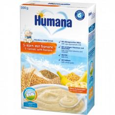 Cereale Humana cu 5 cereale si banane de la 6 luni 200 g - Cereale copii